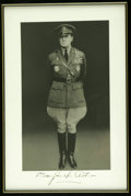 Autographs:Military Figures, Douglas MacArthur Superb Autographed Photo. Rich, textured studiophoto of the illustrious general in his full WWII glory. ...