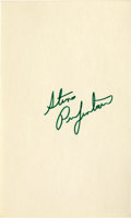 "Autographs:Celebrities, Steve Prefontaine Signature on 3"" x 5"" Card. Often knownaffectionately as ""Pre,"" this popular long-distance runner oncehel..."