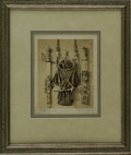 "Autographs:Celebrities, Louis C. Tiffany Signed Photograph. A sepia image, 8.5"" x 10.75"",appearing to be one of a series given an ID number in the..."
