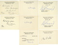 "Autographs:Statesmen, Supreme Court Justices Signatures Supreme Court cards signed:""Wm J Brennan, Jr. (two, dated 1971 & 1975), ""Tom C.Cla... (Total: 16 items)"