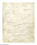 "Autographs:Celebrities, ""The Yellow Jacket"" Signed Cast Sheets Featuring Harpo Marx, Fay Wray, and Alexander Woollcott. This lot features two signed..."