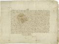 "Autographs:Non-American, A Rare Document Signed by King Alfonso V Of Aragon ( ""TheMagnanimous"") King of Aragon, Naples and Sicily (ruled Aragonfro..."
