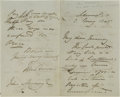 Autographs:Non-American, Sir John Barrow Autograph Letter Signed; Barrow Straight and PointBarrow were Named for this Explorer and Founder of the Roy...