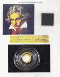 Miscellaneous:Ephemera, Ludwig von Beethoven's Hair. Two strands of hair taken from alarger lock probably clipped the morning after his passing. ...