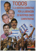"Autographs:Non-American, Fidel Castro Signed Poster. This poster measures 15"" x 21"", and issigned by Castro as ""Fidel Castro,"" in bold, blue fel..."