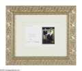 Hollywood Memorabilia:Autographs and Signed Items, Charles and Diana Signed Christmas Card. Here is a framed and matted Christmas card featuring Prince Charles, Princess Diana...
