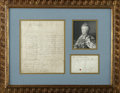 "Autographs:Non-American, Catherine the Great of Russia Autograph Letter Signed""Caterine"". One page, 7.5"" x 9"", Oranienbaum, July 19, 1755.This ..."