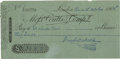 "Autographs:Authors, Charles Dickens Signed Bank Check Oct 20, 1868 bank check, boldlysigned in blue ink by Dickens. 7.25"" x 3.75"", and in fine..."