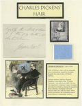 "Autographs:Authors, Charles Dickens Hair Strands Three genuine strands of hair from the monumental 19th century British novelist. Provenance"" ..."