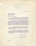 "Autographs:Inventors, Albert Einstein Typed Letter Signed ""A. Einstein."" Albert Einstein is, for many people, the epitome of intelligence and..."