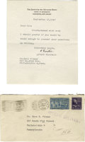 Autographs:Celebrities, Scientifically Important Archive of Early Letters of Einstein, Urey, Born, Wigner, Kemble, Langmuir, Birge, Millikan, others.... (Total: 54 items)