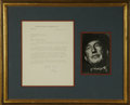 """Autographs:Authors, Ian Fleming Typed Letter Signed at the close """"Yours ever Ian"""". One page, 7.5"""" x 9.5"""", Kemsley House letterhead, London, ..."""