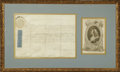 "Autographs:Non-American, King George II of Great Britain Document Signed ""George R"".One page, 13.5"" x 9.5"", vellum, partly printed, Court at Ken..."