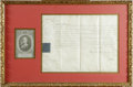 "Autographs:Non-American, King George III of the United Kingdom Document Signed ""GeorgeRI"". One page, 15"" x 11"", vellum, partly printed, Court at..."