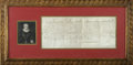 """Autographs:Non-American, Henry IV of France Document Signed As King. One page, 16"""" x 6.75"""",vellum, manuscript, in French, September 6, 1591. A Warra..."""