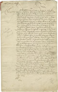 Autographs:Statesmen, 1647 Marriage Contract signed by Queen Henriette Marie, wife ofKing Charles I of England, and her son, the future King Charle...