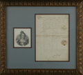 "Autographs:Non-American, Maria de Medici Letter Signed. One page, 8.25"" x 11.75"", Paris,February 22, 1611. Maria de Medici (1573-1642) brought her n..."