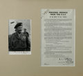 "Autographs:Non-American, Field Marshall Bernard Montgomery Document Signed, ""B. L.Montgomery General"". Printed broadside, ""PERSONAL MESSAGEFR..."