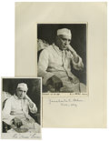 "Autographs:Non-American, Jawaharial Nehru, Two Fine Early Signed Photos . Both from theearly days of Indian independence; one is 4.5"" x 6.35"", tip...(Total: 2 items)"