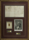 "Autographs:Non-American, Admiral Lord Horatio Nelson Autograph Letter Signed, "" Nelson& Bronte"". One page, 7.25"" x 8.5"", May 8, 1802, to oneRev..."