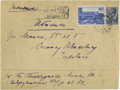 "Autographs:Authors, Boris Pasternak Addressed Envelope. One page, 6"" x 4.5"", Moscow,nd. This envelope was addressed by the famous Russian poet ..."