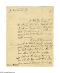 "Autographs:Non-American, Richard Steele Autograph Letter Signed ""Richard Steele."" Twopages, 6.75"" x 8.75"", Wendover, England, March 24, 1721. ..."