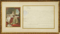 "Autographs:Non-American, Queen Victoria of England Document Signed ""Victoria RI"". Onepage, 15.5"" x 11.25"", manuscript document, Court at St. Jam..."