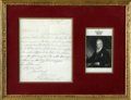 "Autographs:Non-American, Future British King William IV Autographed LetterSigned,""William"". One page, 18.25"" x 14.25"", April 12, 1828.Pre-datin..."