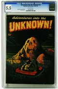 Golden Age (1938-1955):Horror, Adventures Into the Unknown #2 (ACG, 1948) CGC FN- 5.5 Off-whitepages. Edvard Moritz cover. Moritz and Paul Reinman art. Ov...
