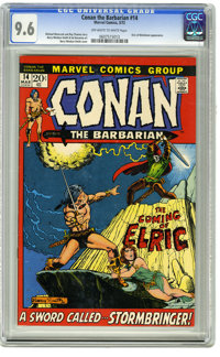 Conan the Barbarian #14 (Marvel, 1972) CGC NM+ 9.6 Off-white to white pages. Elric of Melnibone appearance. Barry Smith...