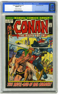 "Bronze Age (1970-1979):Miscellaneous, Conan the Barbarian #17 (Marvel, 1972) CGC NM/MT 9.8 Off-white towhite pages. Adapted from (non-Conan) story ""The Gods of B..."