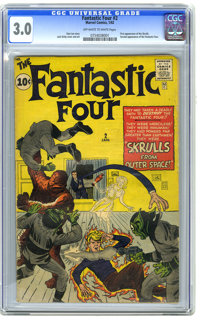 Fantastic Four #2 (Marvel, 1962) CGC GD/VG 3.0 Off-white to white pages. First appearance of the Skrulls. Second appeara...
