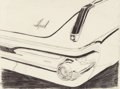 Post-War & Contemporary:Pop, Andy Warhol (1928-1987). Untitled (Imperial Car Detail),1962. Pencil on paper. 18 x 24 inches (45.7 x 61 cm). ...