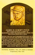 Baseball Collectibles:Others, 1965-67 Jimmie Foxx Signed Gold Hall of Fame Plaque....