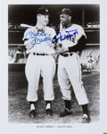 Baseball Collectibles:Photos, Circa 1990 Mickey Mantle & Willie Mays Signed Photograph....
