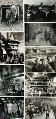 [Mining]. Archive of Approximately 125 Photographs and Press Prints Relating to Mining
