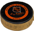 Hockey Collectibles:Others, 1996-97 Wayne Gretzky Game Used New York Rangers Goal Puck....