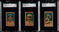 Baseball Cards:Lots, 1920 W516-1 SGC Graded Trio (3) With Two HoFers....