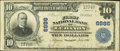 National Bank Notes:Virginia, Lebanon, VA - $10 1902 Plain Back Fr. 626 The First NB Ch. # 6886....