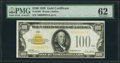 Small Size:Gold Certificates, Fr. 2405 $100 1928 Gold Certificate. PMG Uncirculated 62.. ...