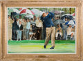 Golf Collectibles:Miscellaneous, 1963 Masters, Augusta National Golf Club, Augusta, GA: The First of Many--Jack Nicklaus Original Painting....