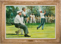 Golf Collectibles:Miscellaneous, 1962 U.S. Open, Oakmont Country Club, Pittsburgh, PA: A Major Breakthrough--Jack Nicklaus Original Painting....