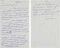 Baseball Collectibles:Others, 1982 Joe DiMaggio Handwritten Signed Letter....
