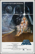 "Movie Posters:Science Fiction, Star Wars (20th Century Fox, 1977). First Printing One Sheet (27"" X41"") Flat Folded Style A. Science Fiction.. ..."