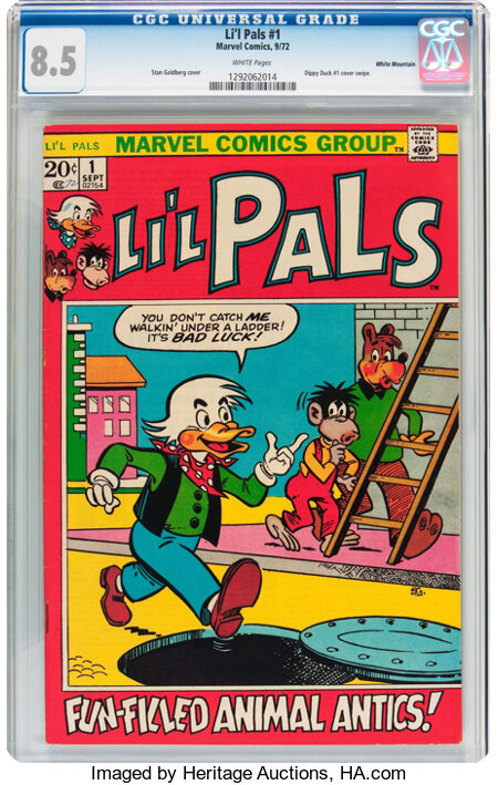 Li'l Pals #1 White Mountain Pedigree (Marvel, 1972) CGC VF+ 8.5 White pages....
