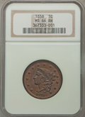 Large Cents, 1838 1C N-1, R.1, MS64 Brown NGC. NGC Census: (7/4). PCGS Population (2/5). Mintage: 6,370,200. ...