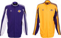 Basketball Collectibles:Uniforms, 2009 Lamar Odom Game Worn Los Angeles Lakers NBA Finals WarmupJackets Lot of 2. ...