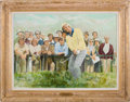 Golf Collectibles:Miscellaneous, 1970 British Open, St. Andrews, Fife, Scotland: A Win at the Home of Golf--Jack Nicklaus Original Painting....