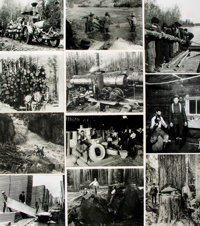 [Lumber Industry]. Archive of Approximately 200 Photographs Relating to the Lumber Industry