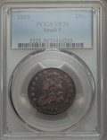 Bust Quarters, 1819 25C Small 9 VF30 PCGS. PCGS Population: (22/90). NGC Census: (8/83). VF30. Mintage 144,000. ...